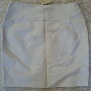 Massimo Dutti white skirt